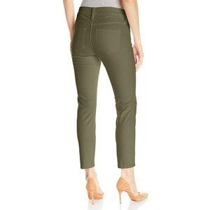 NYDJ Green Alina Skinny Convertible Ankle Jeans
